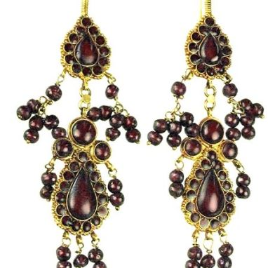 Sadigh Gallery's Ancient Roman Garnet Beads Earrings