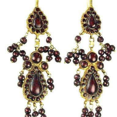 Sadigh Gallery's Ancient Roman Garnet Beads Earrings