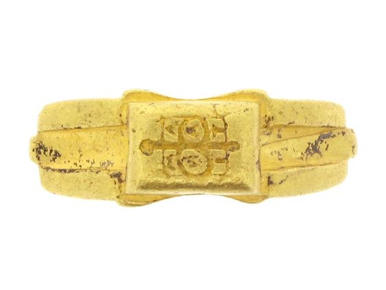 Signet ring inscribed with 'amanit' ('beloved')