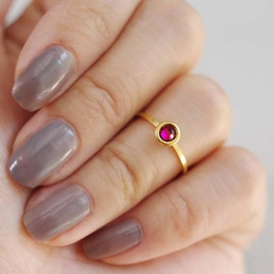 Garnet midi ring, 2017