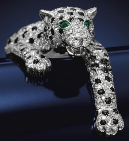 The-Duchess-of-Windsors-Cartier-panther-bracelet.-The-fully-articulated-bracelet-made-by-Cartier-in-1952-is-pavé-set-with-brilliant-and-single-cut-diamonds-and-calibré-cut-onyx.